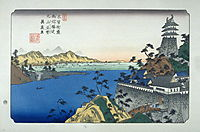 Unuma, pl. 53 from a facsimile edition of Sixty-nine Stations of the Kiso Highway, eisen