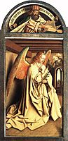 Angel Annunciate, from exterior of left panel of the Ghent Altarpiece, 1432, eyck