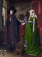 The Arnolfini Wedding. The Portrait of Giovanni Arnolfini and his Wife Giovanna Cenami (The Arnolfini Marriage) , 1434, eyck