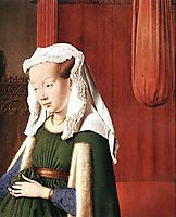 Giovanni Arnolfini and His Wife Giovanna Cenami (The Arnolfini Marriage) (detail), 1434, eyck