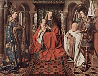 Madonna and Child with Canon Joris van der Paele, 1436, eyck