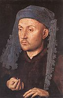 Portrait of a Goldsmith, Man with Ring, 1430, eyck