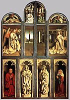 The Ghent Altarpiece, wings closed, 1432, eyck