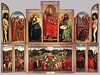 The Ghent Altarpiece, wings open, 1432, eyck