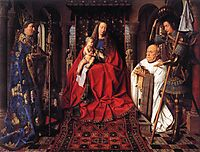 The Madonna with Canon van der Paele, 1436, eyck
