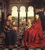 The Virgin of Chancellor Rolin, 1435, eyck