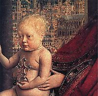 The Virgin of the Chancellor Rolin (detail) , 1436, eyck