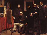 An Atelier in the Batignolles, 1870, fantinlatour
