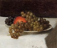 Apples and Grapes, 1870, fantinlatour