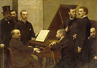 Around the piano, 1885, fantinlatour