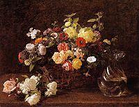 Basket of Flowers, 1892, fantinlatour