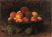 Basket of Peaches, fantinlatour
