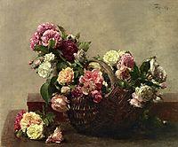 Basket of Roses, 1880, fantinlatour