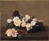 A Basket of Roses, 1890, fantinlatour