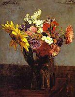 Bouquet of Flowers, 1860, fantinlatour