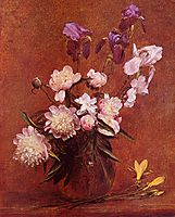 Bouquet of Peonies and Iris, 1884, fantinlatour