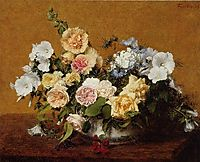 Bouquet of Roses and Other Flowers, 1889, fantinlatour