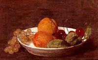 A Bowl Of Fruit, 1870, fantinlatour