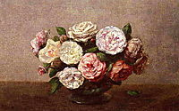 Bowl of Roses, 1889, fantinlatour