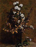 Broom and Other Spring Flowers in a Vase, 1882, fantinlatour