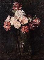 Carnations in a Champagne Glass, 1874, fantinlatour