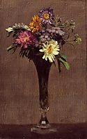 Daisies and Dahlias, 1872, fantinlatour