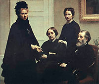 The Dubourg Family, 1878, fantinlatour
