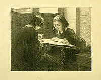 The-Embroiderers, No. 3, 1895, fantinlatour