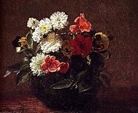 Flowers In A Clay Pot, 1883, fantinlatour