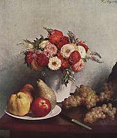 Flowers and Fruit, 1865, fantinlatour
