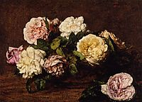 Flowers Roses, 1883, fantinlatour
