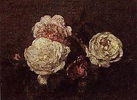 Flowers: Roses, 1883, fantinlatour
