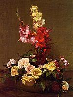 Gladiolas and Roses, 1881, fantinlatour