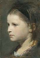 Head of a Young Girl, 1870, fantinlatour