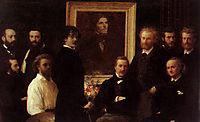 Homage to Delacroix, 1864, fantinlatour