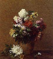 Large Bouquet of Chrysanthemums, 1882, fantinlatour