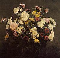 Large Bouquet of Crysanthemums, 1873, fantinlatour