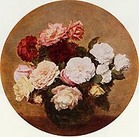A Large Bouquet of Roses, 1886, fantinlatour