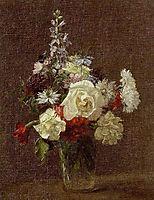 Mixed Flowers, 1887, fantinlatour