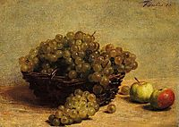 Nature Morte: Raisin et Pommes d-Api, 1880, fantinlatour