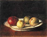 A Plate of Apples, 1861, fantinlatour