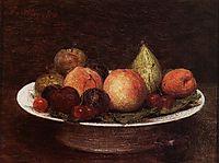 Plate of Fruit, 1880, fantinlatour