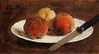 Plate of Peaches, 1862, fantinlatour