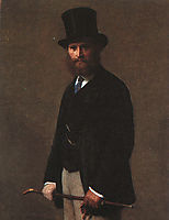 Portrait of Edouard Manet, 1867, fantinlatour