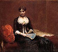 Portrait of Madame Léon Maître , c.1882, fantinlatour