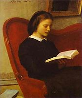 The Reader (Marie Fantin Latour, the Artist-s Sister), 1861, fantinlatour
