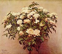 Rose Trees White Roses, 1875, fantinlatour
