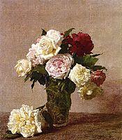 Roses, 1885, fantinlatour