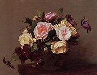Roses and Clematis, 1883, fantinlatour