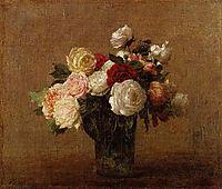 Roses in a Glass Vase, fantinlatour